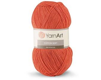 Cotton Soft YarnArt Crochet yarn Yarn for knitting Hypoallergenic yarn Summer yarn Hand knit yarn Color choice Cotton-Acrylic yarn Soft yarn