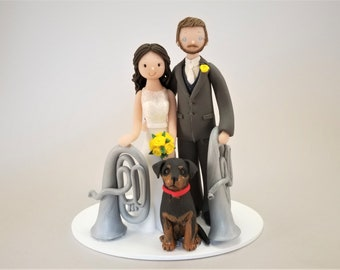 Bride & Groom with Euphonious Customized Wedding Cake Topper