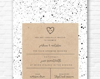 Splatter Invitations - Bridal Shower Co Ed Shower invitation