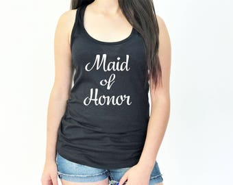 Bridal Party Tank Tops, Bride Tank Top, Bridesmaid Tank Top, Maid of Honor Tank Top, Bachelorette Party, 1533 J