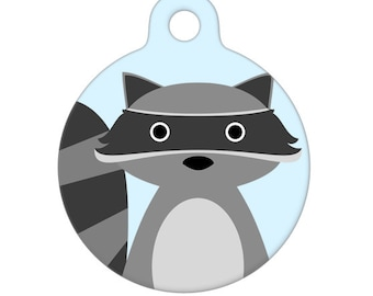 Pet ID Tag - Raccoon Pet Tag, Dog Tag, Cat Tag