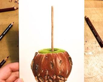Inktober Caramel Apple Sketch
