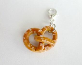Pretzel Charm Dangle Charms Miniature Food Jewelry Polymer Clay Pretzel