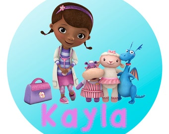 Doc McStuffins Personalized Plate, Melamine Plate, Custom Plate