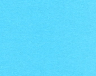 KNIT - Solid Turquoise from Robert Kaufman's Laguna Cotton Jersey Collection