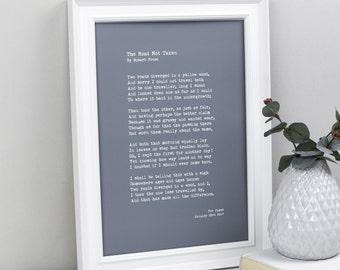 My Words- Custom Quote Print- Custom Poster- Typewriter Quote- Personalised Print- Custom Poem Print- Personalized Prints- Personalised Poem