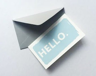 """Mini """"Hello"""" Cards - 12 Pack"""