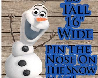 Pin il naso sul pupazzo di neve! Gioco di Party stampabile! Download digitale! Festa di compleanno congelato!