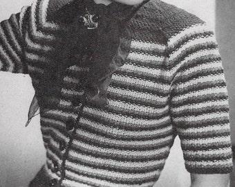 1940s Striped Cardigan