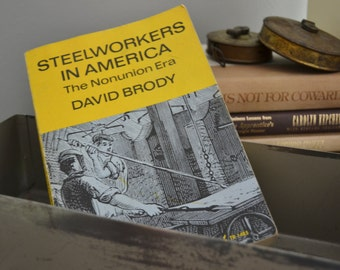 HISTORICAL BOOK Steelworkers In America 1960 Vintage Books