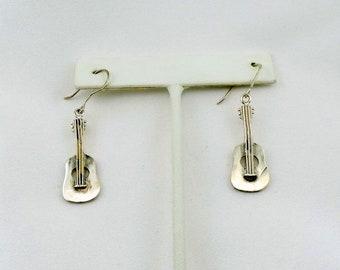 Nashville Her I Come!!  Vintage Sterling Silver Guitar Earrings FREE SHIPPING! #GUITAR-ERG3