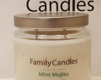Family Candles - Mint Mojito 16 oz Double Wicked Soy Candle