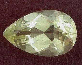 14x9 pear citrine gem stone gemstone