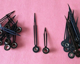 12 Pairs of Vintage Black Westclox Big Ben and Baby Ben Alarm Clock Hands for your Clock Projects, Jewelry Crafts, Steampunk Art