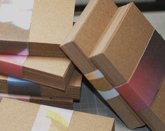 ATC / ACEO Blanks (100) ... Lightweight Chipboard Art Supplies Artist Supply Kraft Brown Craft Supplies Paper Goods Blank Cards Art Cards