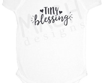 Baby gift under 20 etsy tiny blessing baby one piece dark grey gray miracle baby baby shower negle Image collections
