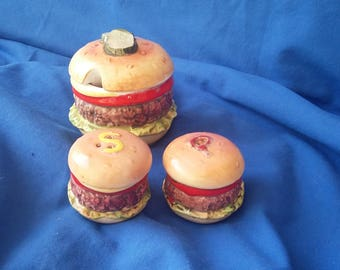 Very Old Vintage Burger Cruet Set Mid 20th Century.