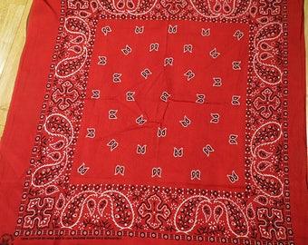 Free shipping Red Vintage  Cotton Bandana   #005