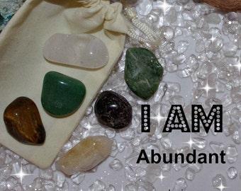 Abundant Crystal Medicine Bag I AM Abundant / Wealthy