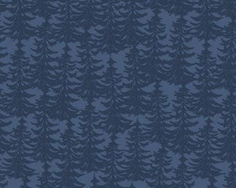 Trees on Blue from Riley Blake's The Great Outdoor Collection