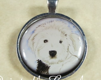 Old English Sheepdog Necklace, OES Pendant, Sheepdog Jewelry, Dulux Dog Necklace, Sheepdog Necklace, OES Jewelry, OES Gifts