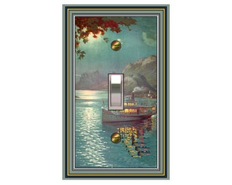 choose sizes / prices from drop down box0486x - Night Boat - mrs butler switch plate covers - choose sizes / prices from drop down box