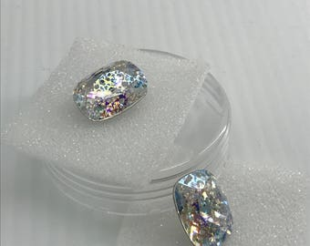 Swarovski 4568 14/10mm Crystal White Patina