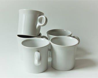 Fiesta Ware Mugs Fiestaware White, Home Laughlin Set of 5