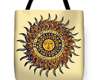 Southwest Del Sol Designer Throw Pillow Gift - Southwest Sun Design Tote Gift - Book Bag - ReUsable Shopping Bag - Laptop Bag - Diaper Bag