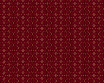 Marcus Conestoga Crossings Pam Buda Black Red Gold Floral Civil War Reproduction  5554-0111 Fabric BTY