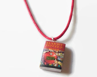 Harry Potter mini book necklace