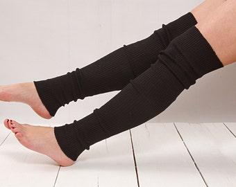Leg Warmers Knit Black Leg Warmers Boot Socks Knit Knee Socks Knee High Socks Knee Socks Thigh High Socks