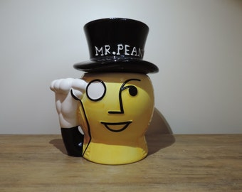 COOKIE - Mr. PEANUT - Jaune black and white-Vintage JAR