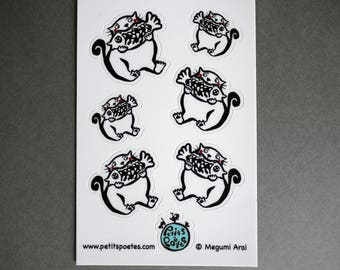 Hungry Cat Stickers