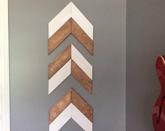 Free Shipping in Canada - 3 Piece Rustic Wooden Chevron Wall Art