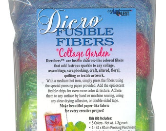 Dicro Fusible Fibers Dicrofibers 5 Pack COTTAGE GARDEN by USArtQuest