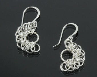 Handmade Parallel Twist Chainmaille Earrings