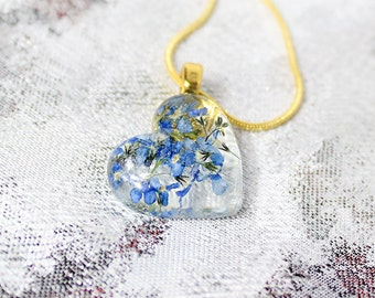 heart pendant statement necklace/for/wife birthday gift mom blue pendant cute pendant gift girlfriend romantic pendant romantic gifts РЮ10