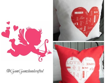 2 Color Options:..Anniversary Decor Pillows.Toss Pillow Covers.Slipcovers.Throw Pillows.Valentines Day.SweetestDay.Valentines Day