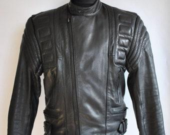 Vintage MEN'S BIKER leather jacket , motorcycle leather jacket ....(322)