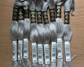 Lot of 5 Skeins DMC Floss # 642