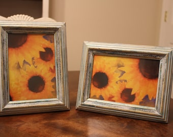 set of 5x7 hand painted photo frames