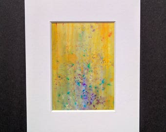 Original ACEO abstract artwork 'Flowers' series #1 Yorkshire artist