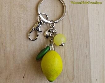 Lemon keychain polymer clay