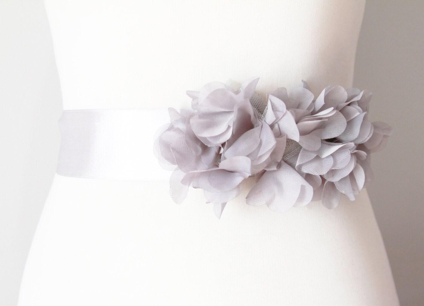 Bridal Flower Sash Ribbon Belt Boho Rustic Wedding Dress