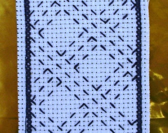 Sashiko hand embroidered Japanese embroidered bookmarks