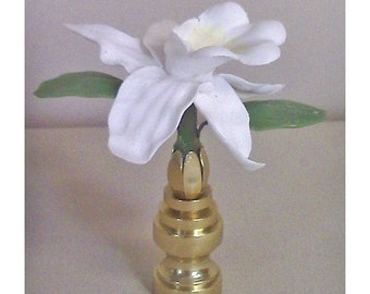 Orchid Lamp Finial Hand Crafted Custom Colors