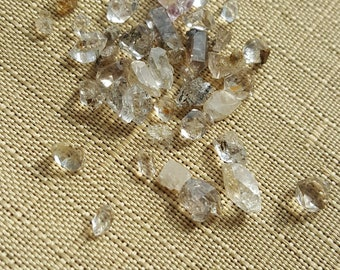 "Herkimer Diamonds, Ungraded, Smoky Under 1/4"" 5pcs"