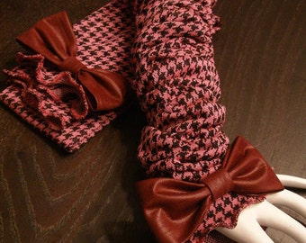 Fun and Cute Pink and Black Fashionable Scrunchie Arm Sleeves Wear Up or Down on Your Arm