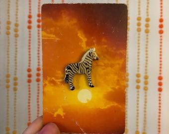 Vintage Deadstock Zebra Pin
